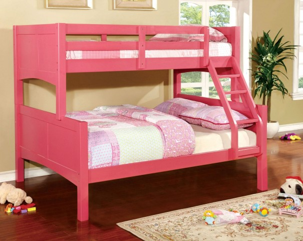 Prismo II Pink Twin Over Full Bunk Bed