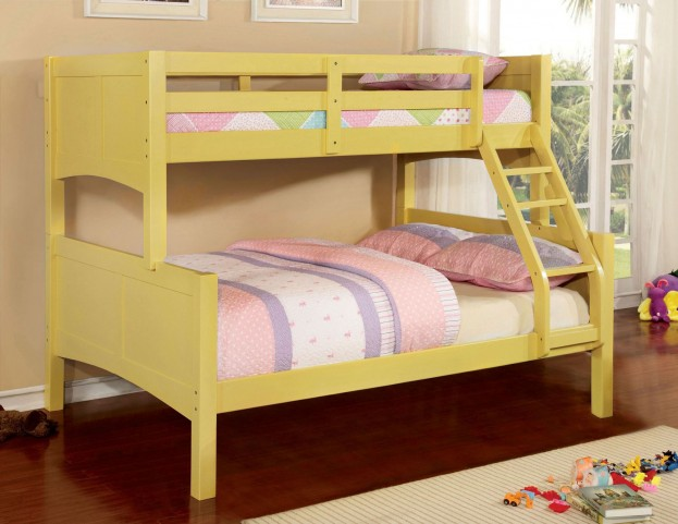 Prismo II Yellow Twin Over Full Bunk Bed