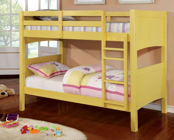 Prismo II Yellow Twin Over Twin Bunk Bed