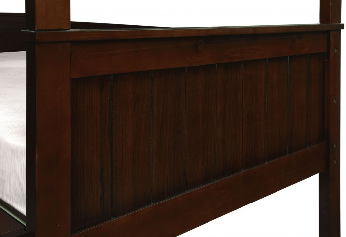 Therese Espresso Twin Over Twin Triple Decker Bunk Bed