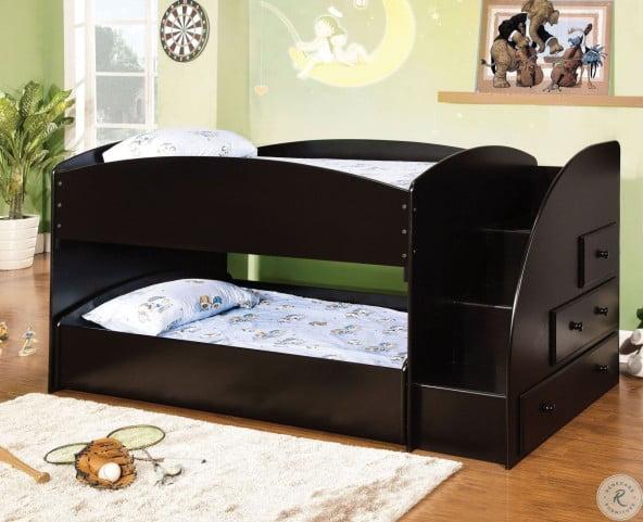 Merritt Black Twin Over Twin Bunk Bed