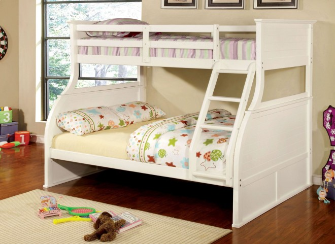 Canova White Twin Over Full Bunk Bed