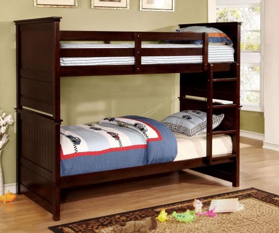 Fairfax Dark Walnut Twin Over Twin Bunk Bed