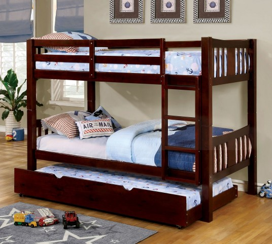 Cameron Dark Walnut Twin Over Twin Bunk Bed