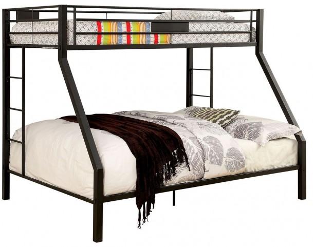 Claren Black Twin Over Queen Bunk Bed