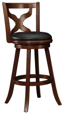 "Baltic 29"" Dark Cherry Swivel Bar Stool"