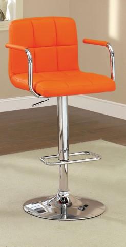 Corfu Orange Leatherette Bar Stool