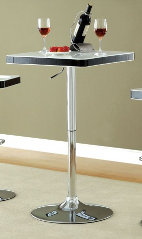 Veria White Top Adjustable Bar Table