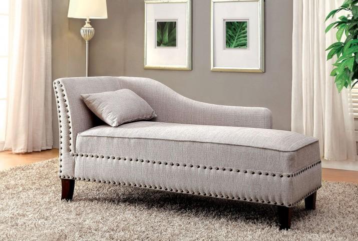 Stillwater Beige Fabric Chaise