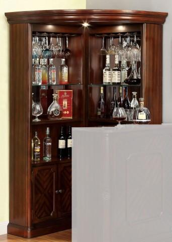 Voltaire Dark Cherry Curio Cabinet