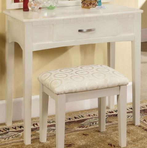 Potterville White Vanity Table