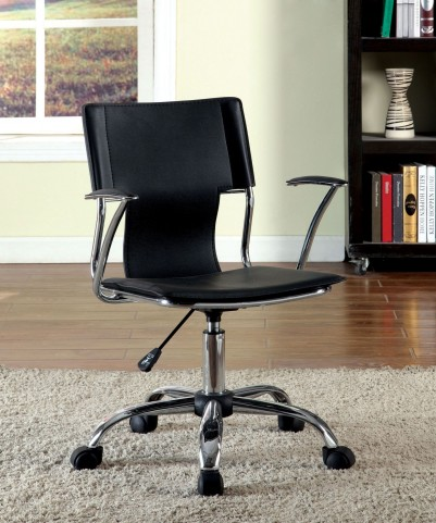 Zemin Black Leatherette Office Chair