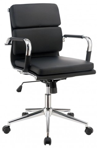 Mercedes Black Small Office Chair