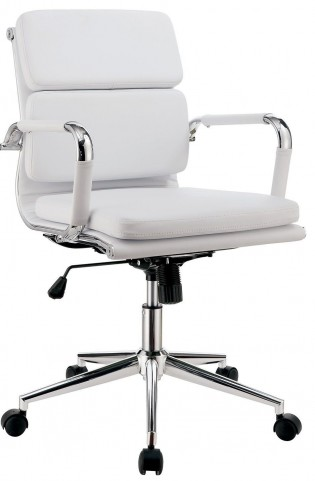 Mercedes White Small Office Chair