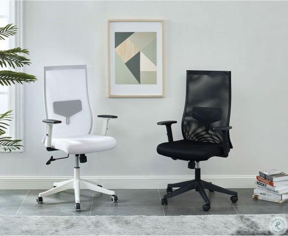 Orli White Long Back Office Chair