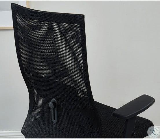 Orli Black Long Back Office Chair