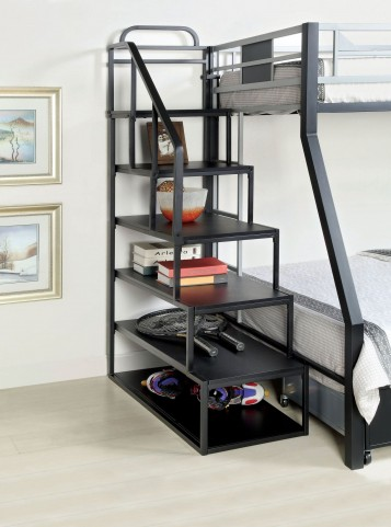Clifton Silver and Black Storage Ladder