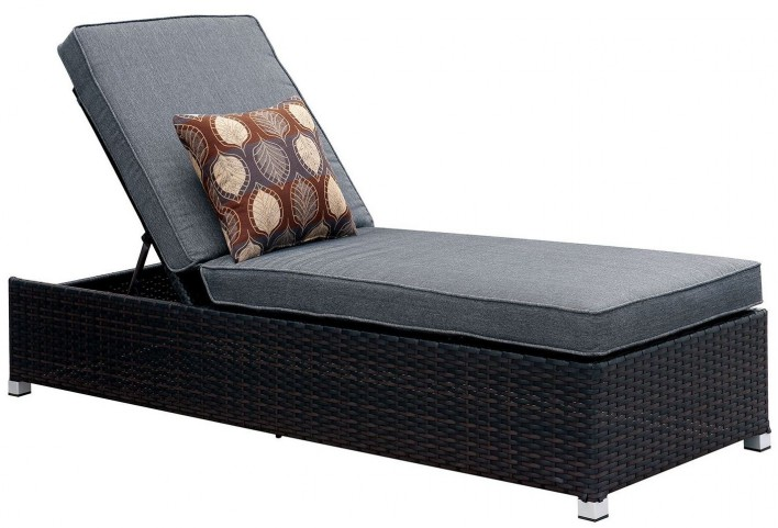 Albee II Gray Patio Chaise With Pillow