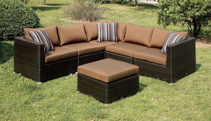 Abion Brown Patio Sectional