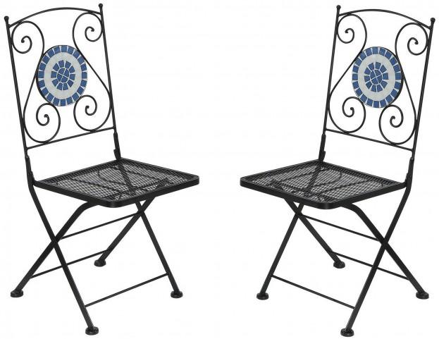 Aster Folding Metal Chair Set of 2