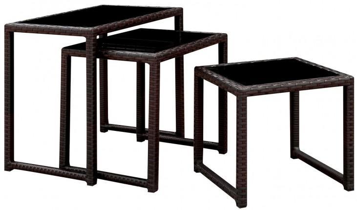 Rocio Espresso Nesting Side Tables