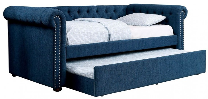 Leanna Teal Trundle Daybed