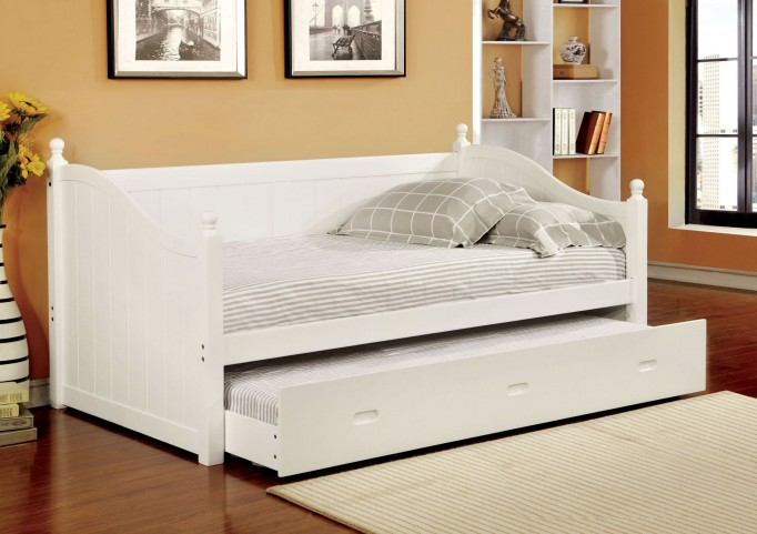 Walcott White Twin Trundle Daybed