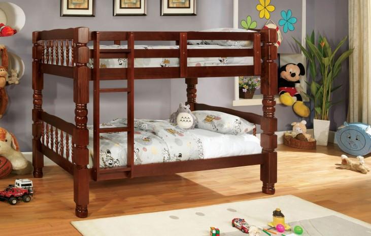Carolina Cherry Twin Over Twin Bunk Bed