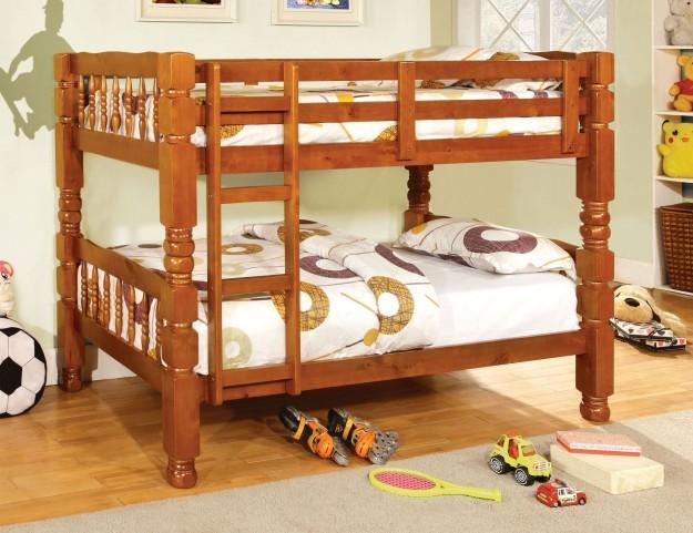 Carolina Oak Twin Over Twin Bunk Bed
