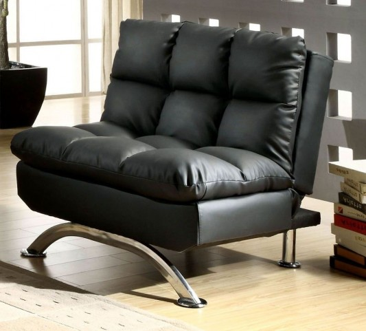 Aristo Black Leatherette Chair