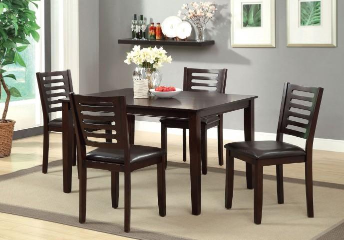 Amador I Espresso 5 Piece Dining Table Set