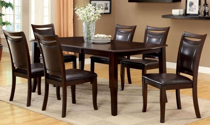 Woodside Dark Cherry Rectangular Extendable Leg Dining Room Set