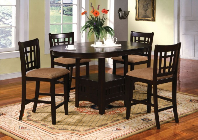 Metropolis Oval Counter Height Dining Room Set