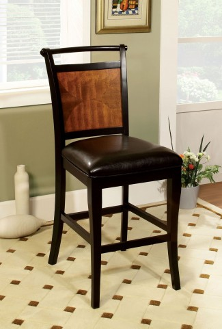 Salida II Acacia Leatherette Counter Height Chair Set of 2
