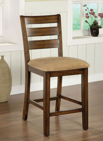 Priscilla II Antique Oak Counter Height Chair Set of 2