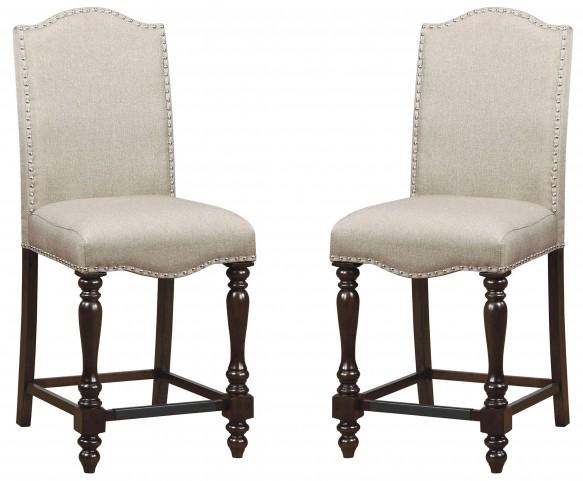 Hurdsfield II Antique Cherry Counter Height Chair Set Of 2