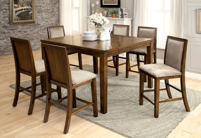 Ingrid II Walnut Extendable Counter Height Dining Room Set