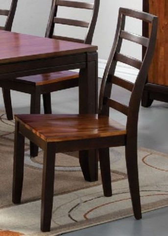 San Isabel I Acacia and Espresso Side Chair Set Of 2