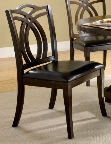 Keukenhof Leatherette Side Chair