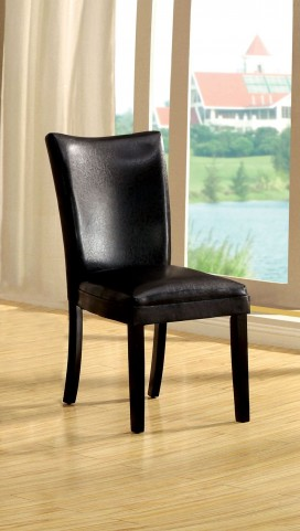 Lamia I Black Leatherette Side Chair Set of 2