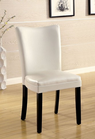 Lamia I White Leatherette Side Chair Set of 2