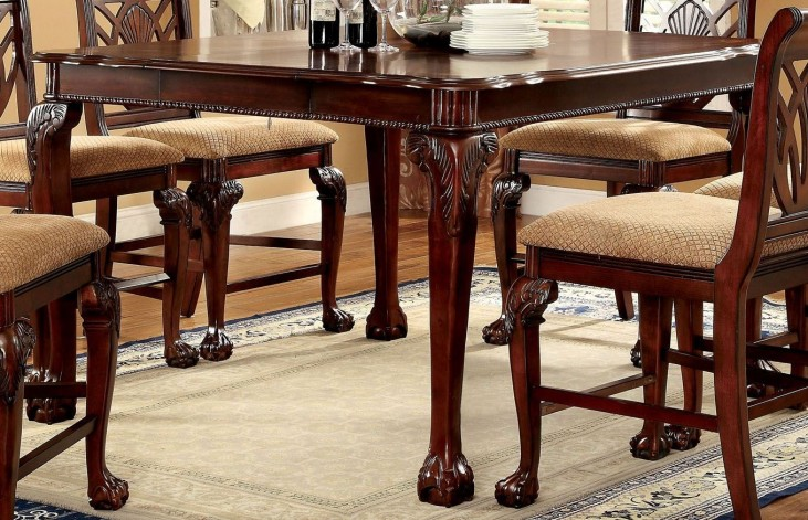 Petersburg II Cherry Square Counter Height Leg Table