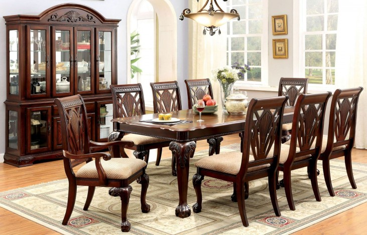Petersburg I Cherry Rectangular Extendable Leg Dining Room Set