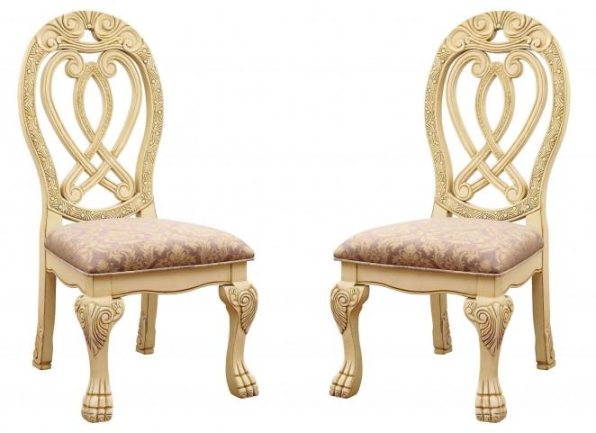 Wyndmere White Side Chair Set of 2