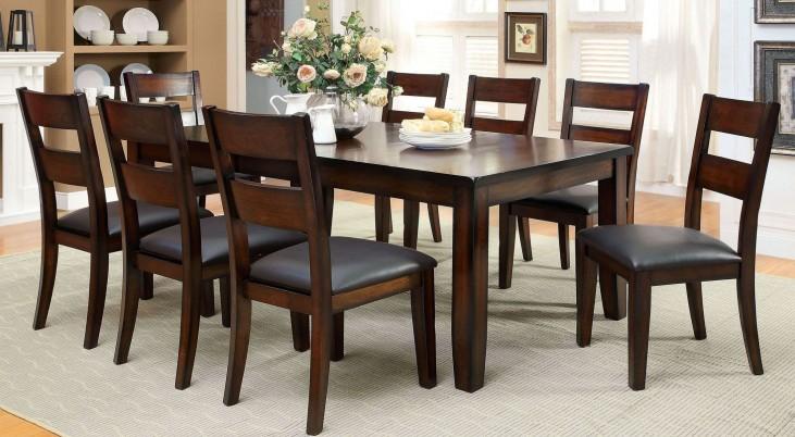 Dickinson I Dark Cherry Rectangular Extendable Leg Dining Room Set