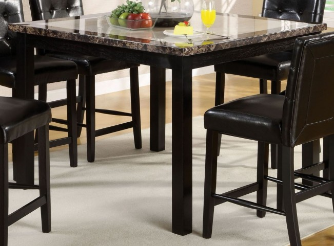 """Atlas II 47"""" Faux Marble Square Counter Height Leg Table"""