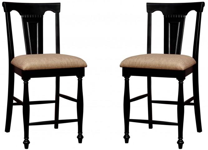 Sabrina Cherry & Black Counter Height Chair Set Of 2