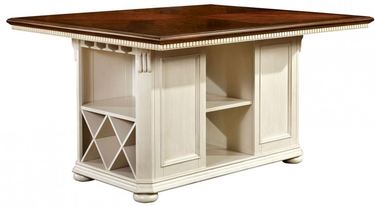 Sabrina Cherry & White Counter Height Table