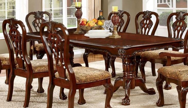 Elana Cherry Extendable Rectangular Dining Table