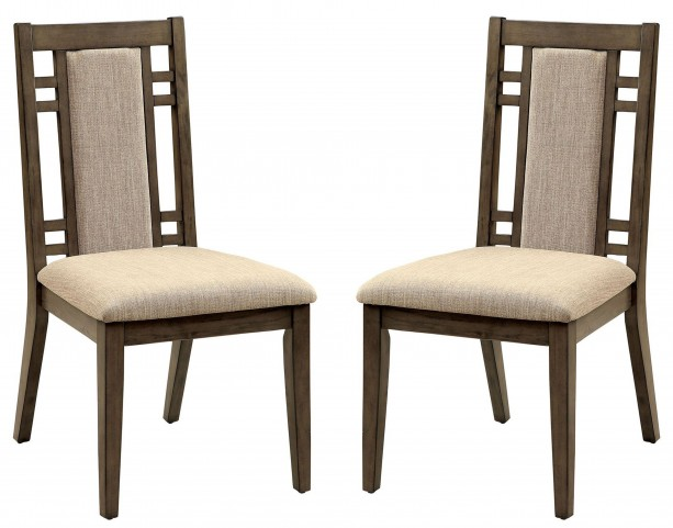 Eris I Weathered Gray Side Chair Set Of 2